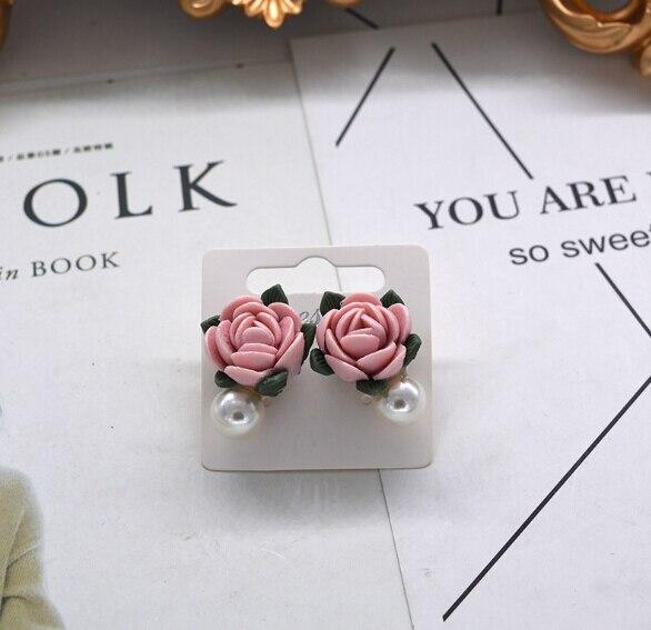 Модный бренд, винтажные серьги-капли, ювелирные изделия в стиле барокко, европейский стиль, розовая Цветочная ветка, висячие серьги для женщин с солнцезащитными очками