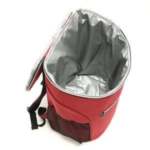 Image 5 - 20L 600D أكسفورد حقيبة للحفاظ على البرودة الحرارية الغداء نزهة صندوق معزول حقيبة ظهر باردة الجليد حزمة الطازجة الناقل حقائب كتف الحرارية