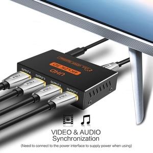Image 2 - Fsu 2で1アウトhdmiスプリッタ1 4アウトのhdmiアンプでhdcp 1080 1080p 4 18kデュアルディスプレイハイビジョンdvd用hdmiスイッチスイッチャー