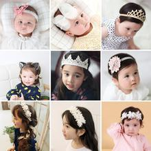 Baby Girls Kids Headband Hairband Hair Hoop Turban Headwrap Bow Flower Pearl Rhinestone Crown Wreath Garland Headpiece Party 2017 new 10pcs lot beach hair accessories kids flower headband bohemian style wreath garland girls birthday party hairband