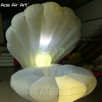 New designed beautiful led shell open inflatable seashell/crabshell clam model for one person squat inside on wedding party