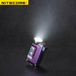 Image 2 - Nitecore TINI SS USB TINISS נטענת פלדת LED מפתח אור CREE XP G2 S3 LED 380 LM כולל USB נטענת ליתיום סוללה