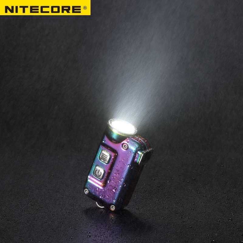 Nitecore Tini Ss Usb Tiniss Oplaadbare Staal Led Key Licht Cree XP-G2 S3 Led 380 Lm Inclusief Usb Oplaadbare Li-Ion batterij