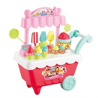 May baby #5001 New Kids Toys Simulation Mini Candy Ice Cream Trolley Shop Pretend Play Set drop shopping