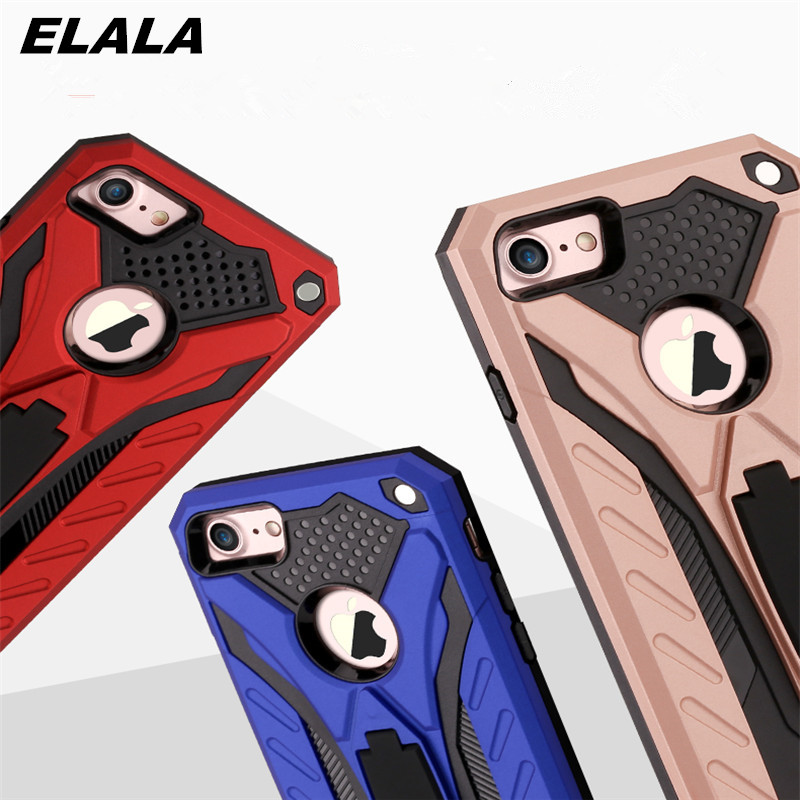 With stand Phone Case For Huawei honor 8X Cover Silicone + Hard PC Hybrid Armor Back Cover For Huawei honor 8X Case Bumper Coque