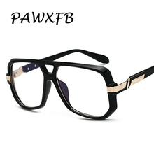 PAWXFB Brand High quality Square Optical glasses Vintage Big Frame Sun Glasses Unisex Eyeglasses Retro Oculos de sol Shades