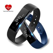 ID115 HR Смарт сердечного ритма Мониторы Фитнес трекер Шагомер Bluetooth Smart Браслет для смартфонов IOS и Android