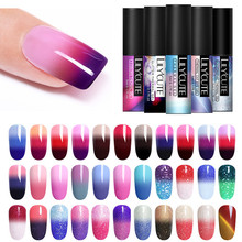 LILYCUTE 5ml Thermal Color Changing Nail Gel Polish 3-layers Soak Off UV LED Lacquer DIY Manicure