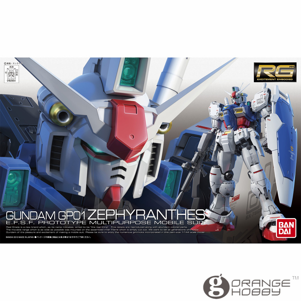 OHS Bandai RG 12 1/144 RX-78 GP01 Zephyranthes Gundam Mobile Suit Assembly Model Kits oh ohs bandai sd bb 385 q ver knight unicorn gundam mobile suit assembly model kits oh