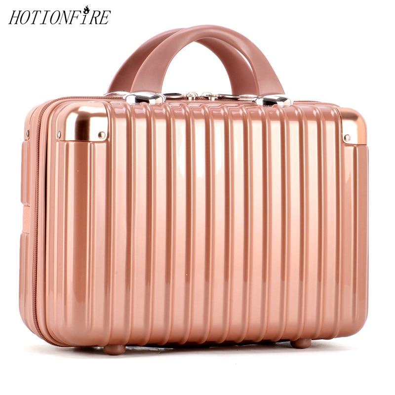 Женская сумка, модный светильник, 14 дюймов, чехол для костюма, на молнии, для леди, бизнес, ABS, косметичка, чехол для костюма, для макияжа, сумка