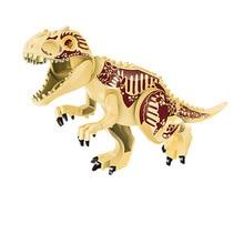 10PCS/LOT Yellow Tyrannosaurus Rex Dinosaur Jurassic World Park Bricks Model Building Blocks Toys For Children