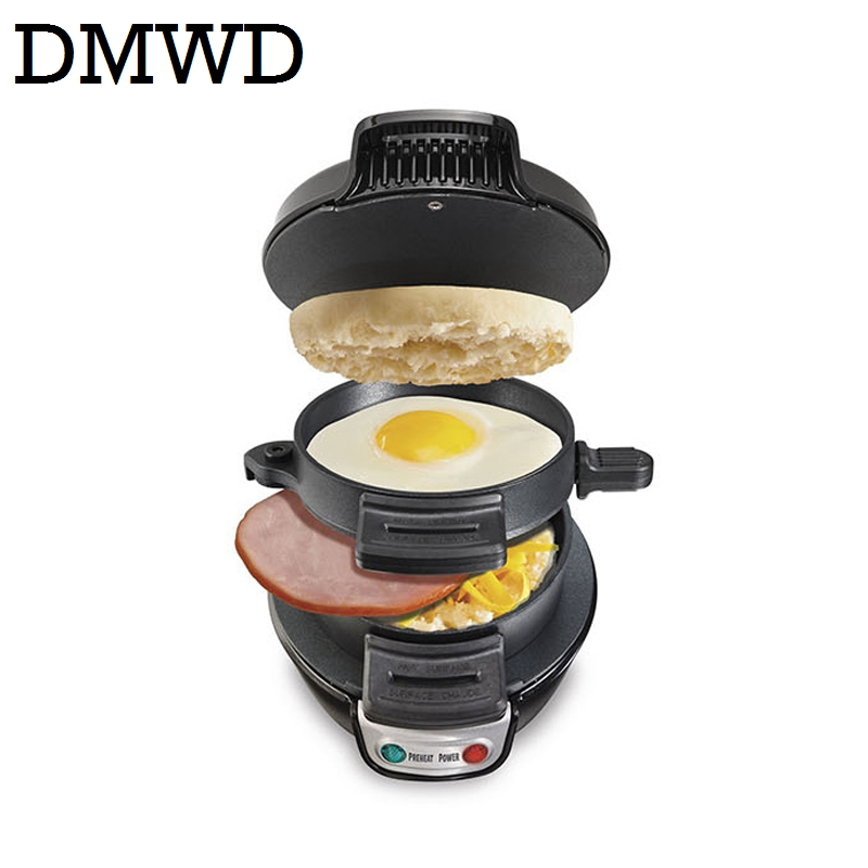 MINI Sandwich Maker Breakfast baking machine burger Patty cooker bacon egg frying pan Household hamburger press maker oven grill cukyi toaster household automatic multi function breakfast machine egg boiler stainless steel electric baking pan heating oven