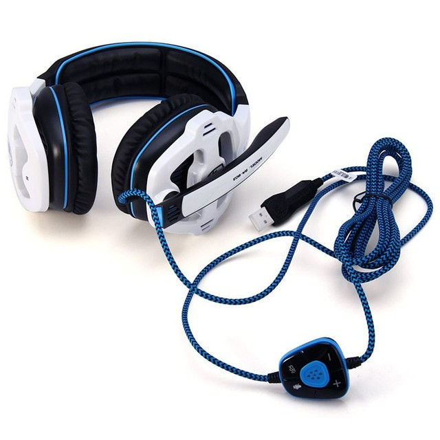 SADES SA903 7.1 Surround Sound USB PC Stereo Gaming Headset with Microphone Volume-Control LED light 4
