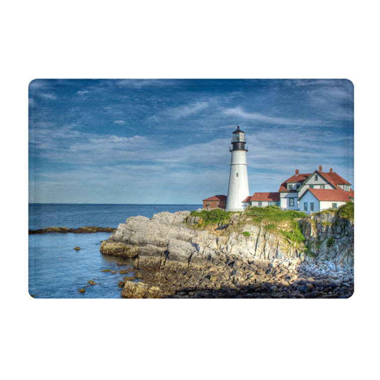 2017 New Floor Mat Non Slip Bedroom Mats Beach Rug Lighthouse Landscape Pattern Sea Bath Mat 40x60cm/45x75cm