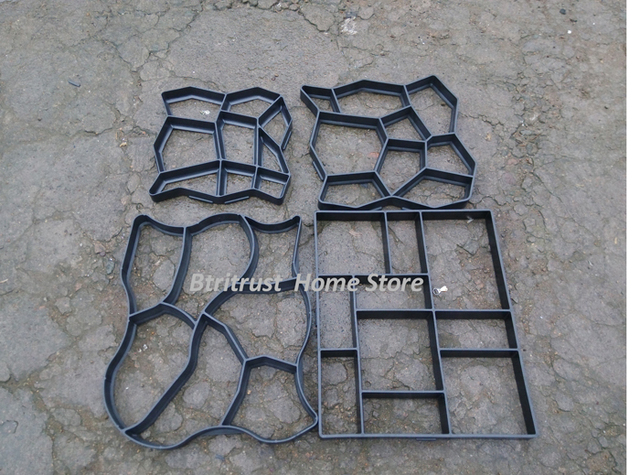 Merveilleux 60*50cm 5pcs/lot Diy Stone Pavement Mold For Making Pathways For Your Garden