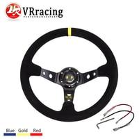 Steering Wheel ID 14inch 350mm OMP Deep Corn Drifting Steering Wheel Suede Leather