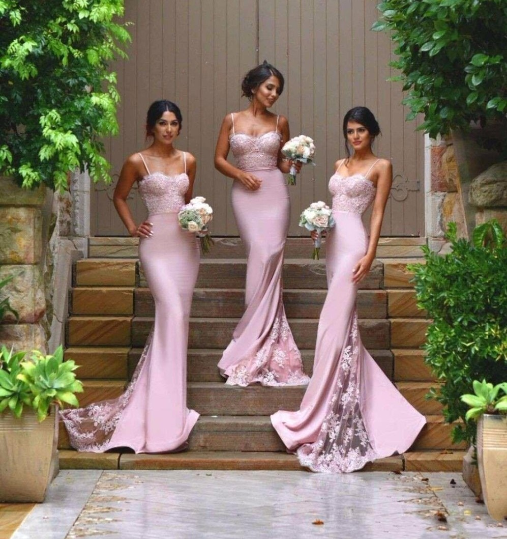 Buy 2016 new sexy spaghetti straps for Country wedding party dresses