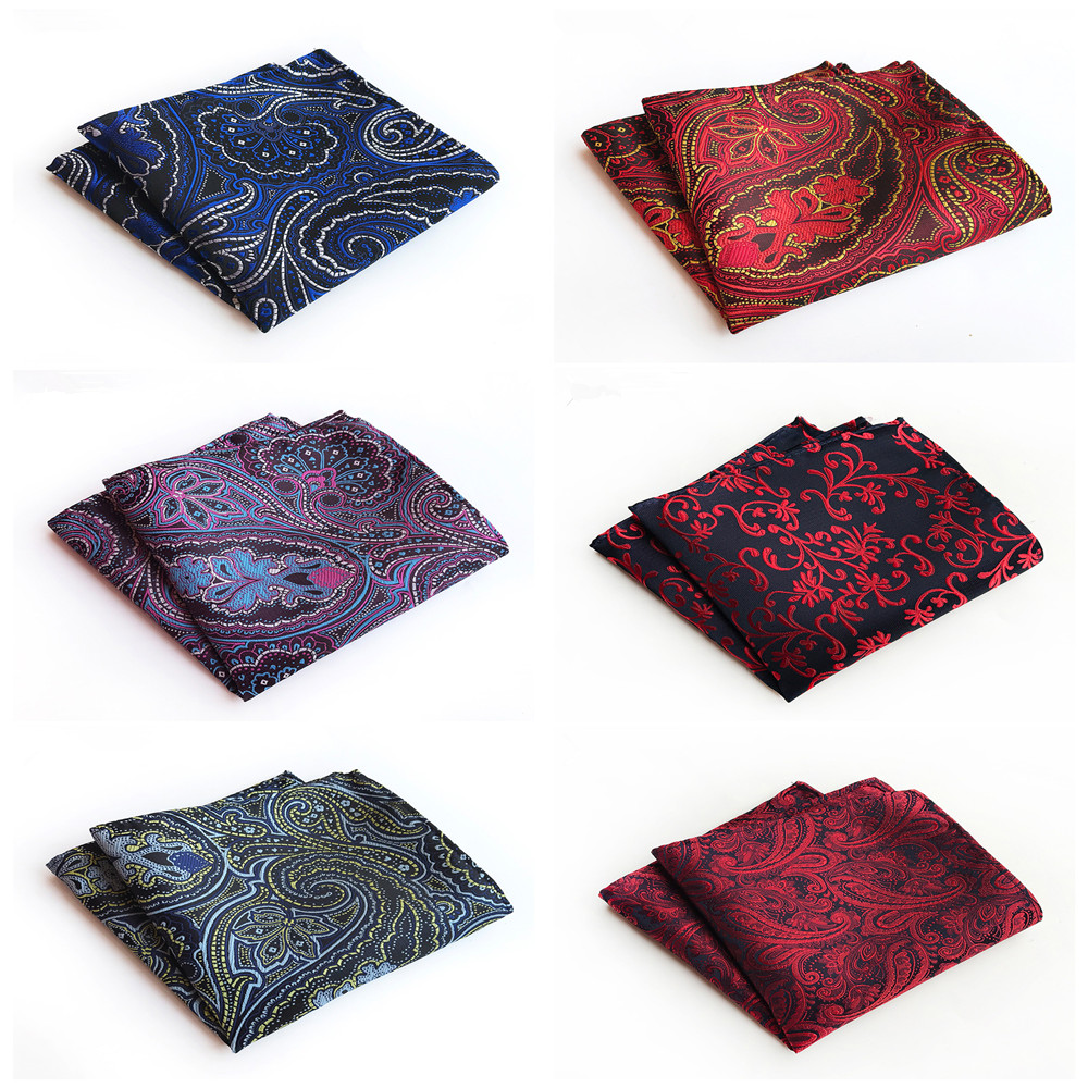 2019 Explosions Polyester Material Fashion Suit Pocket Towel Unique Design Men's Dress Retro Handkerchief Pocket Towel