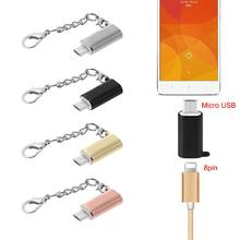 Untuk Samsung Xiaomi Lightning 8 Pin Female Ke USB Mikro Male Adaptor Converter(China)