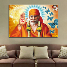 Living Room Wall Home Decorative Style Poster Canvas Painting Modern HD Printed 1 Panel India Lord God Sai Baba Picture