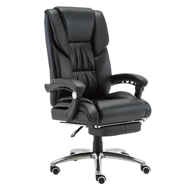 Home Modern Minimalist Computer Chair Leather Boss Executive Chair Office Leisure Reclining Back Massage Chair Cowhide Seat