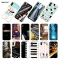 MaiYaCa Piano Keys Musical lover gift Transparent TPU Soft Cell Phone Protective Cover For iPhone XS XR 6s 7 7plus case