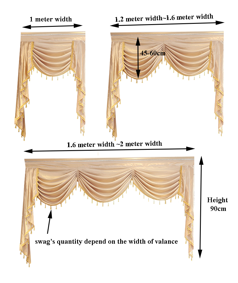Genial Curtain Valance Swag Lambrequin For Living Dining Room Bedroom Luxury Style  Window Swag European Royal Style In Curtains From Home U0026 Garden On ...