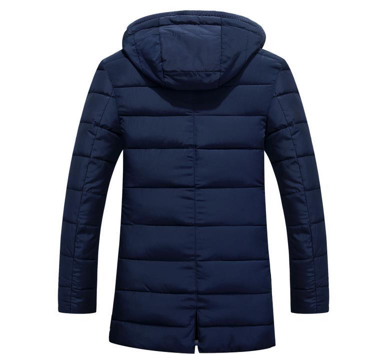 Winter New Men's Hooded Cotton Coat Jacket Foreign Trade Medium Long Men's Wear Fashionable Cotton-padded Jacket