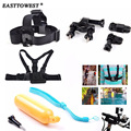 Easttowest Gopro Accessories Set Head Band Chest Straps Bobber Floating Bike Mount Holder for Xiaomi Yi gopro hero 4 3  SJ4000