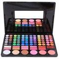 Brillante sombra de ojos 78 colores de sombra de ojos recorte rubor brillo de labios lápiz labial brillante paleta de maquillaje