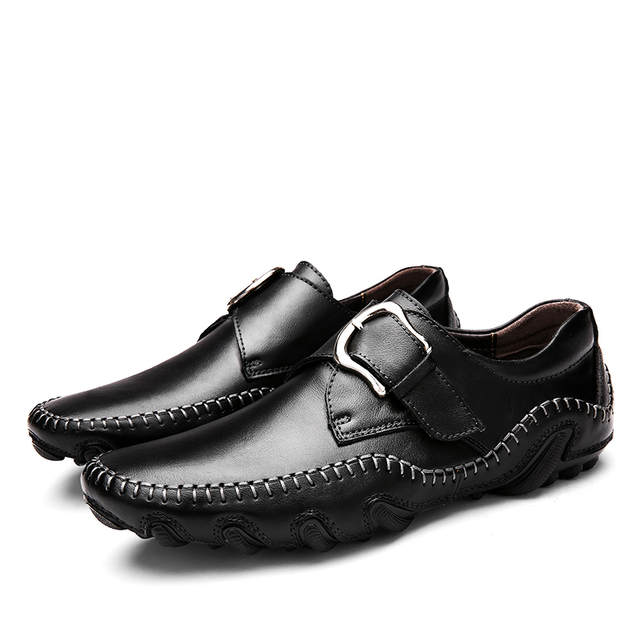 Times New Roman Fashion Musim Gugur Gaya Lembut Sepatu Pria Pantofel Kulit  Asli Kualitas Tinggi Sepatu b7a80bd244