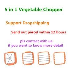 VIP быстро 5 в 1 измельчитель овощей Нержавеющаясталь овощерезка Chopper приспособление для нарезки овощей резак для грибов огурец KC1067