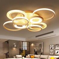 White Finish Modern Led Chandelier For Living Room Master Bedroom Home Deco Chandelier Fixtures
