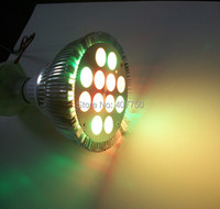 Infrared remote 44key controler multi color12X1W Par38 led spot light led ceiling panel light used for hotels and cafes