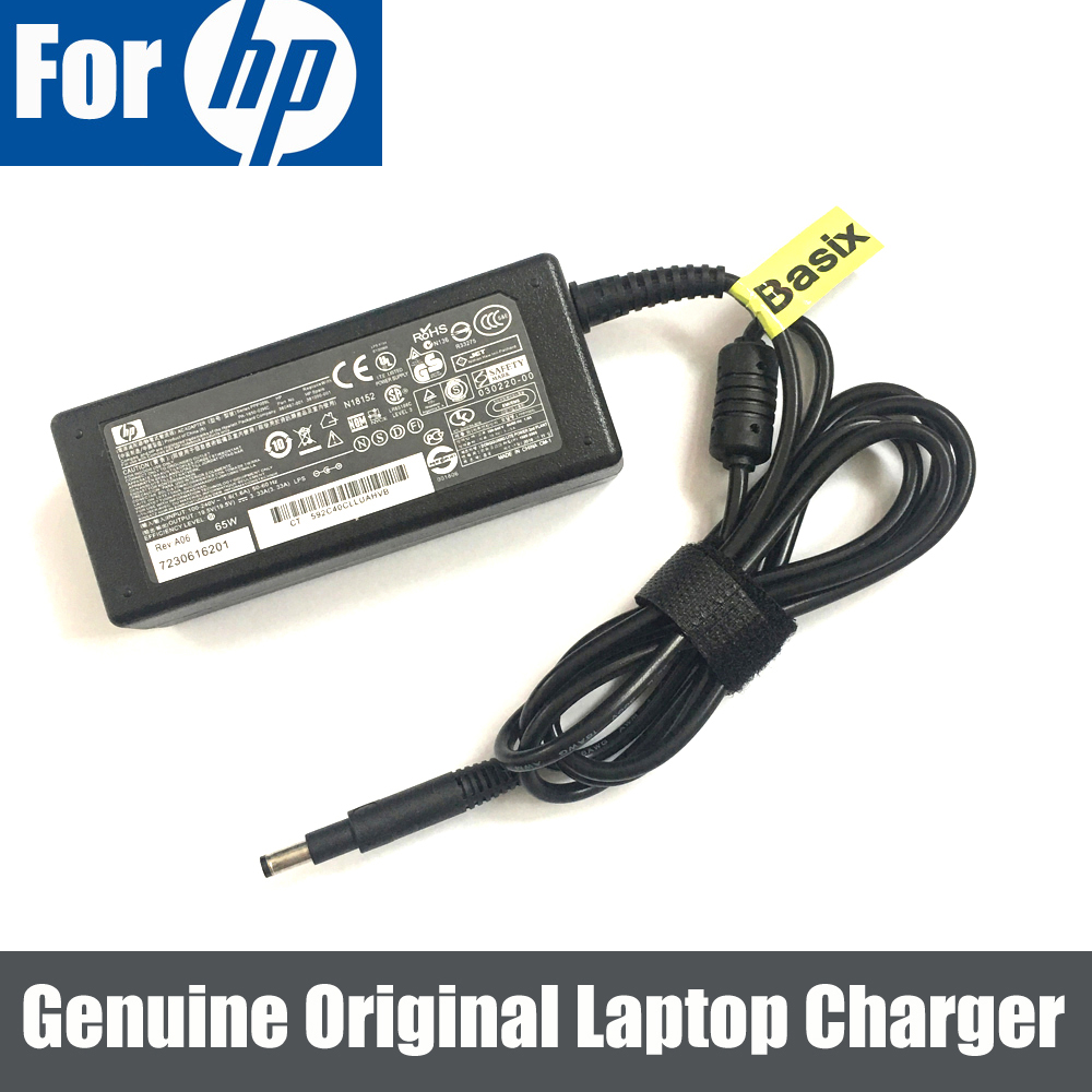 Original 65 w Adaptador AC Carregador Fonte de Alimentação para HP 693715-613149-001 001 677770-003 INVEJA sleekbook 6z-1000 6-1131nr 6z-1100