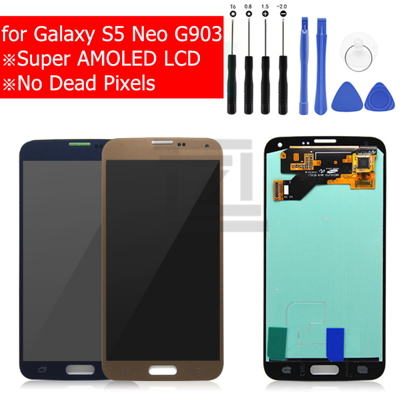 For Samsung Galaxy S5 Neo G903 LCD Display Touch Screen Glass Panel Digitizer Assembly LCD Display