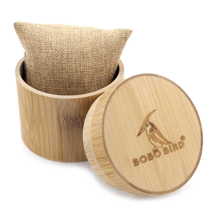 BOBO pájaro regalo bambú reloj caja redonda de bambú Sólido caja redonda cilindro de calidad superior conjunto de joyas caja de almacenamiento