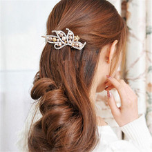 A# NEW 2017 Vintage Jewelry Crystal Hairpins Fashion Women Pearl Duckbill Clip Beauty Tools #1104