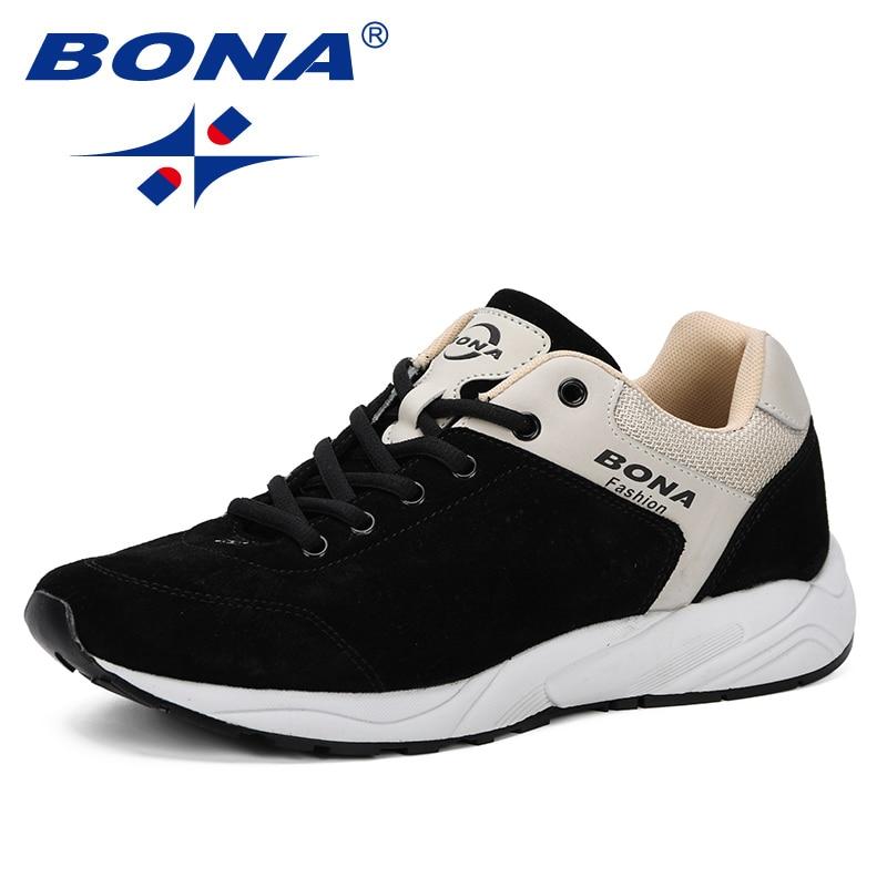 BONA 2019 Spring Autumn Men Casual Shoes Flat Shoes Men Sneaker Men Leisure Shoes Zapatillas Hombre