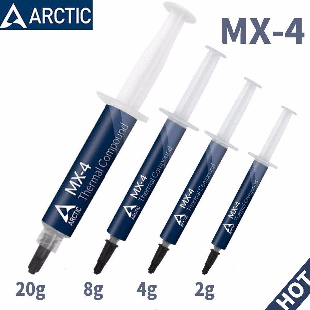 Ártico MX-4 2G 4G 8G 20g de AMD procesador Intel CPU enfriador de CPU ventilador de refrigeración de la grasa térmica VGA compuesto disipador de calor yeso pasta