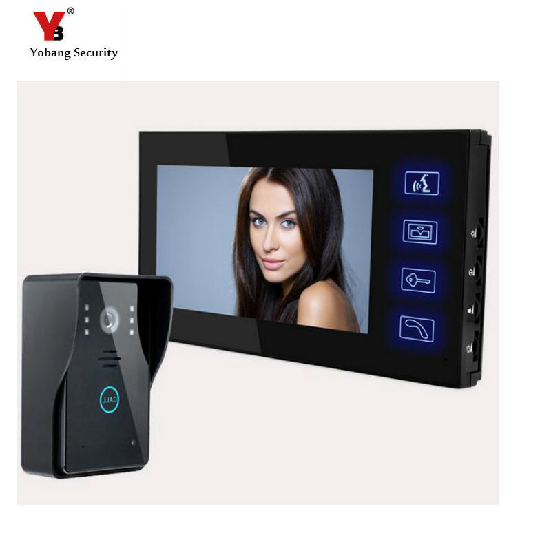 Yobang Security Freeship 7 Inch Intercom Station Night Vision Home House Security Door Bell Camera Doorbell Phone touch keypad Yobang Security Freeship 7 Inch Intercom Station Night Vision Home House Security Door Bell Camera Doorbell Phone touch keypad