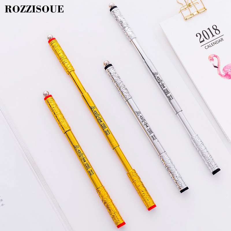 0 5mm Retractable Decompression Rotary Pen Black Ink Album Gel Pen Stationery Office Learning Cute Pen Unisex Pen Gift for Kids in Gel Pens from Office School Supplies