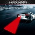 10 pcs Padrão Colisão Anti-extremidade Traseira Do Carro Luz de Nevoeiro Auto Lâmpada de Freio de Estacionamento Da Cauda Do Laser Luz de Advertência de Criação CarStyling