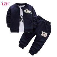 LZH Children S Clothing 2017 Autumn Winter Baby Boys Clothes Set Kids Clothes 3pcs Coat T