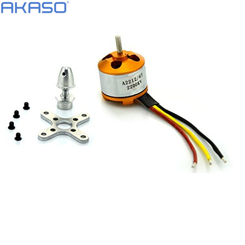 New A2212 2200KV Brushless Outrunner Motor W Mount 6T For font b RC b font Aircraft