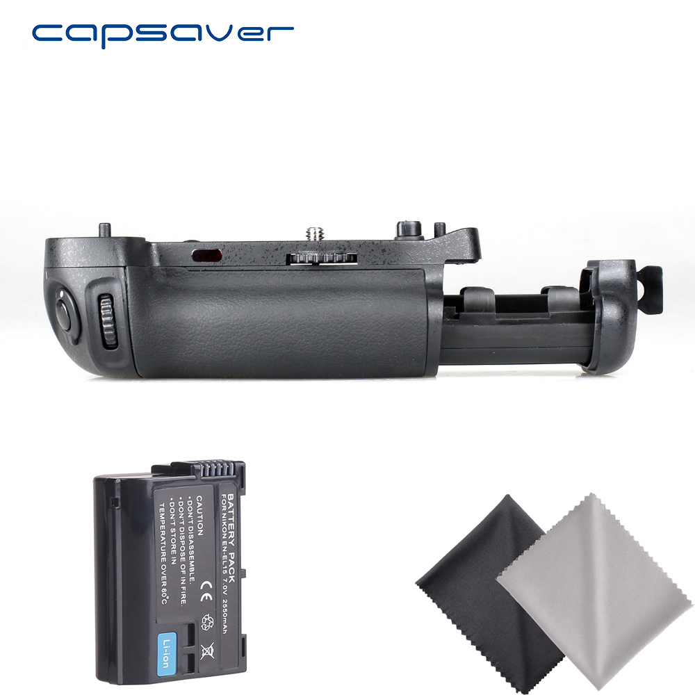 capsaver Vertical Battery Grip with 1pc EN EL15 Battery for NIKON D750 as MB D16 Camera