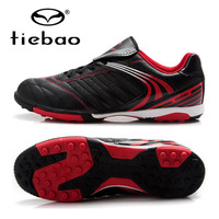 TIEBAO Brand Professional Adult Outdoor Sports Football Soccer Shoes TF Turf Rubber Sole For Kids Men