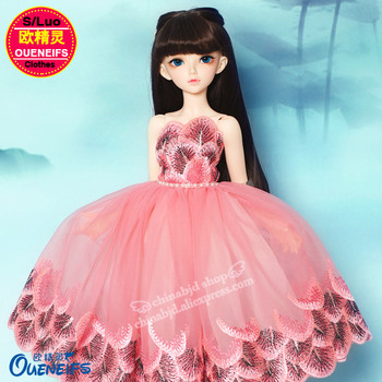 BJD Cothes 1/4 Chinese Style Dress Peacock Wind Elegant and NobleA For Minifee Fairyland Girl Body YF4-140 Doll Accessories