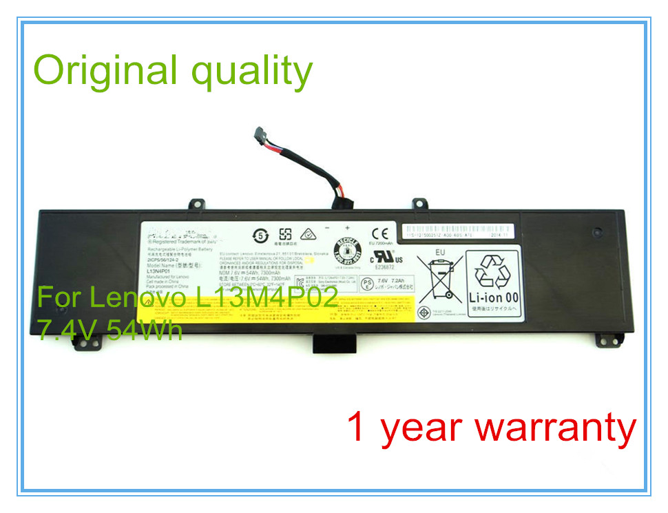 Original Battery For Y50-70 L13N4P01 Y50-70AM-IFI L13M4P02 Y50-70AS-ISE 2ICP5/56/124-2 for lenovo laptop y50 y50 70 y50 80 with c shell series keyboard