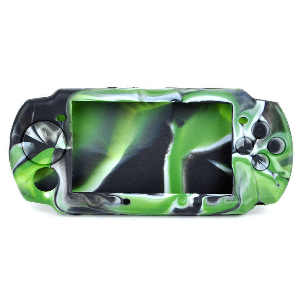 High quality Camouflage silicone Protective Case Skin cover for PSP 3000/2000